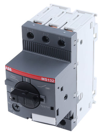 ABB - 1SAM350000R1010 - ABB MS132 系列 4 kW 3P 手动 电动机保护断路器 1SAM350000R1010, 690 V 交流, 1/3相, IP20