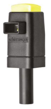 Schutzinger - SDK 799 / GE - Schutzinger SDK 799 / GE 黄色 香蕉插头, 300V 16A, 镀镍触点