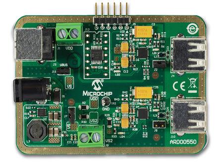 Microchip - ARD00550 - Microchip UCS1002 和 PIC16F1503 参考设计 PIC16 处理器系列 参考设计 评估测试板 Ver. 1.4 ARD00550; 载有 PIC16F1503 MCU (PIC 内核)