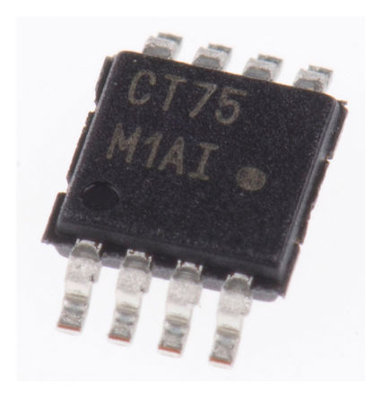 ON Semiconductor - NCT75DMR2G - ON Semiconductor NCT75DMR2G 12 位 温度传感器, ±1°C精确度, 串行I2C、SMBus接口, 3 → 5.5 V电源, -55 → +125 °C工作温度, 8引脚