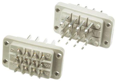 Cinch - JA778480000E000 - Cinch 12路 面板安装 绿色,灰色 公 连接器 JA778480000E000