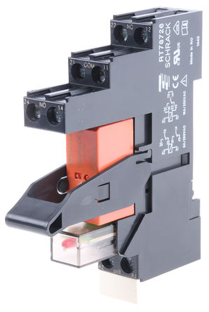 TE Connectivity - RT3S4LC4 4-1415073-1 - TE Connectivity RT3S4LC4 4-1415073-1 单刀双掷 DIN导轨 接口继电器模块, 16A, 24V dc