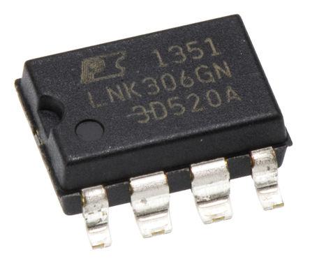 Power Integrations - LNK306GN - Power Integrations LNK306GN 开关稳压器, 85 → 265 V 交流输入, 12 V 直流输出, 7引脚 PDIP SMD封装
