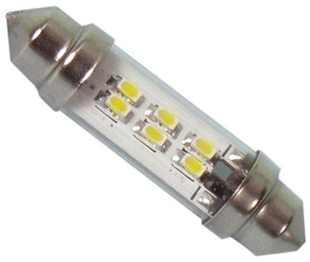 JKL Components - LE-0909-14NW - JKL Components 白色光 尖浪形 LED 车灯 LE-0909-14NW, 43 mm长 10.7mm直径, 24 V 交流/直流 45 mA, 43 lm