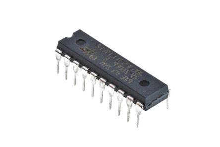 STMicroelectronics - ST7FLITE29F2B6 - STMicroelectronics ST7 系列 8 bit ST7 MCU ST7FLITE29F2B6, 8MHz, 8 kB、256 B ROM 闪存, 128 B,384 B RAM, PDIP-20