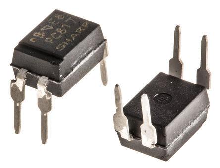 Sharp - PC817X2NSZ0F - Sharp 光耦 PC817X2NSZ0F, 直流输入, 晶体管输出, 4引脚 PDIP 封装