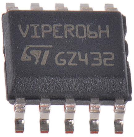 STMicroelectronics - VIPER06XSTR - STMicroelectronics VIPER06XSTR 交直流转换器, 11.5 → 23.5 V输入, 10引脚 SSO封装