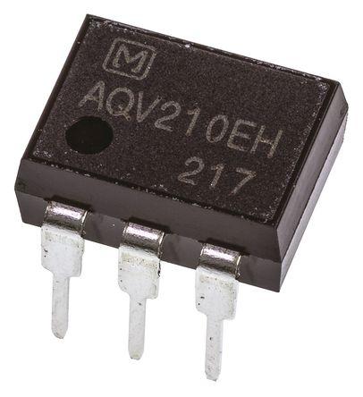Panasonic - AQV210EH - Panasonic 130 mA PCB安装 单极常开 固态继电器 AQV210EH, MOS 照片输出, 350 V