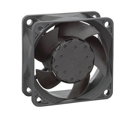 ebm-papst - 632/2HPU - ebm-papst 630 系列 1.5W 12 V 直流 轴流风扇 632/2HPU, 44m3/h, 60 x 60 x 25.4mm