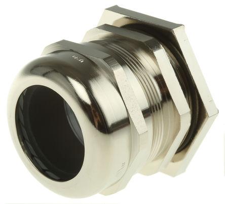 Lapp - 52103360+53112670 - Lapp IP55 镀镍黄铜 带锁紧螺母的电缆固定头 52103360+53112670, 27mm 至 35.0012mm电缆直径, -30°C至+100°C, M50螺纹