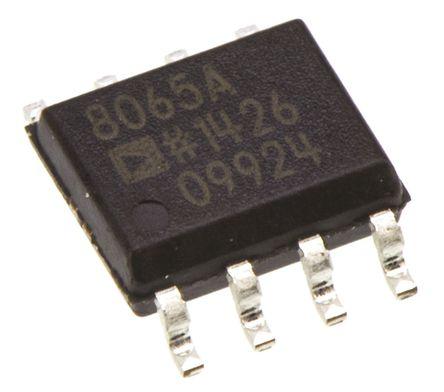 Analog Devices - AD8065ARZ - Analog Devices AD8065ARZ 运算放大器, 155MHz增益带宽积, 6 → 18 V单电源电压, 轨至轨输出, 8引脚 SOIC封装