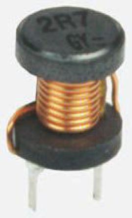 Panasonic - ELC08D392E - Panasonic ELC08D 系列 3.9 mH ±10% 铁氧体 ELC08D392E 引线型电感器, 140mA Idc, 4.9Ω Rdc