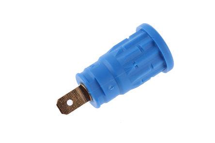 Hirschmann Test & Measurement - 972361102 - Hirschmann 972361102 蓝色 4mm 插座, 1000V ac/dc 24A, 镀金触点