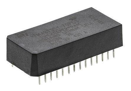 STMicroelectronics - M48T35Y-70PC1 - STMicroelectronics M48T35Y-70PC1 实时时钟 (RTC), 备用电池、日历、芯片取消选择、转移、写入保护功能, 32768B RAM, 并行总线, 4.5 → 5.5 V电源, 28引脚