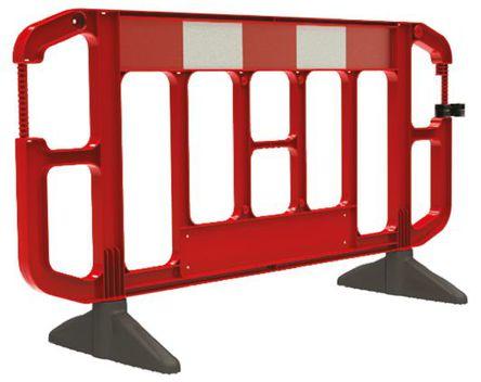 JSP - KBA073-000-651 - JSP 红色/白色 交通围栏 PP 围栏和栏柱 KBA073-000-651, 2m深 x 1.2m高 x 1.005m宽