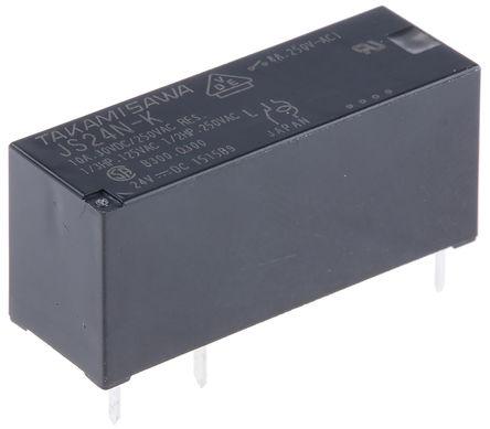 Fujitsu - JS-24N-K - Fujitsu JS-24N-K 单刀双掷 PCB 安装 非闭锁继电器, 24V