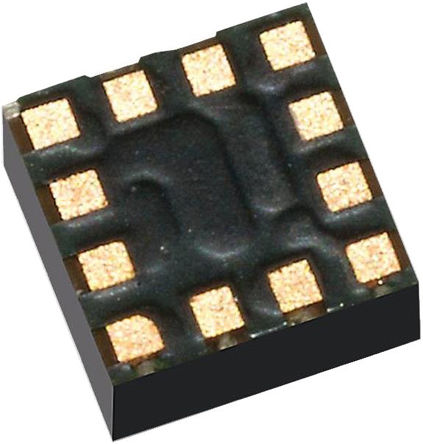 STMicroelectronics - IIS2DHTR - STMicroelectronics IIS2DHTR 3轴 加速表, 串行-3 线、串行-4 线、串行-I2C、串行-SPI接口, 1.71 → 3.6 V电源, 12引脚 LGA封装