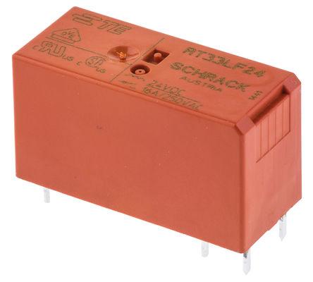 TE Connectivity - 2-1393240-9 - TE Connectivity 2-1393240-9 单极常开 PCB 安装 自锁继电器, 24V dc, 适用于电源应用