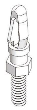 Richco - MSCBSM-M3-06-01 - Richco MSCBSM-M3-06-01 9.5mm高 尼龙 镶嵌固定垫片, 适用于3.18mm PCB 孔和M3螺纹