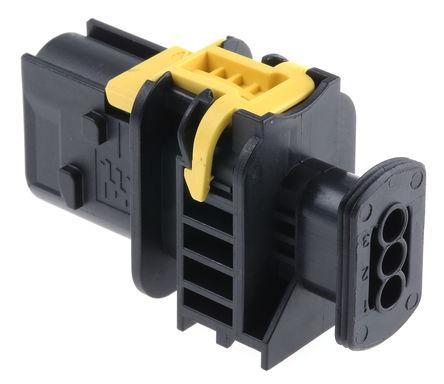 TE Connectivity - 1-1670730-1 - TE Connectivity AMP MCP 1.5 系列 3路 电缆安装 黑色 公 连接器 1-1670730-1