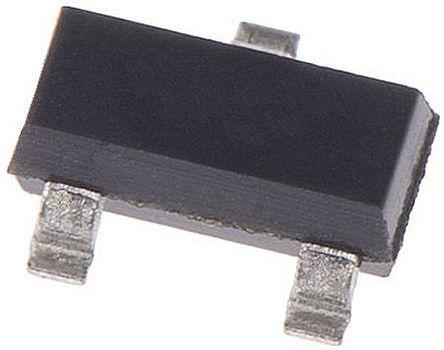 DiodesZetex - FMMTA06TA - DiodesZetex FMMTA06TA , NPN 晶体管, 500 mA, Vce=80 V, HFE:50, 100 MHz, 3引脚 SOT-23封装