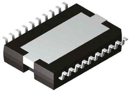 STMicroelectronics - TDA7266D - STMicroelectronics TDA7266D AB 类 音频放大器, +70 °C, 7 W @ 8 Ω最大功率, 20引脚 PowerSO封装