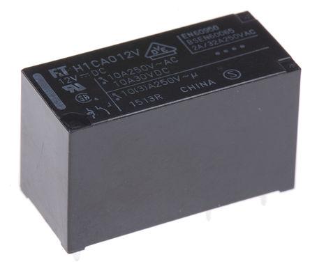 Fujitsu - FTR-H1CA012V - Fujitsu FTR-H1CA012V 单刀双掷 PCB 安装 非闭锁继电器, 12V