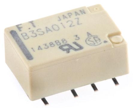 Fujitsu - FTR-B3SA012Z-B10 - Fujitsu FTR-B3SA012Z-B10 双刀双掷 表面贴装 非闭锁继电器, 12V