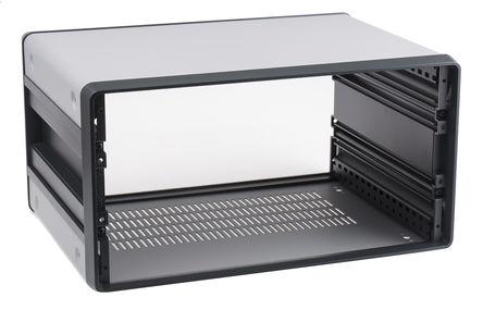 Schroff - 14575243 - Schroff CompacPRO 系列 灰色/银色 铝/挤制铝 4U 通风 台式机箱 14575243, 191.6 x 364 x 271mm