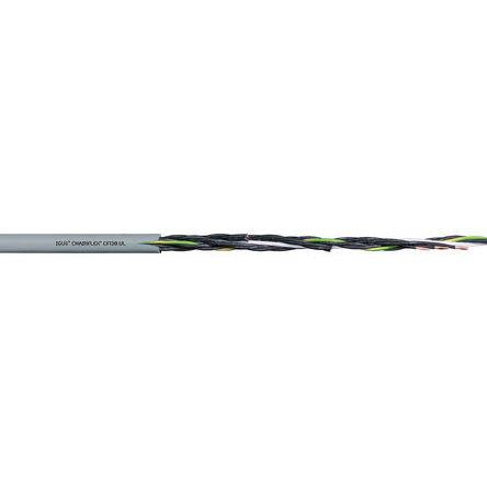 Igus - CF130.15.07.UL - Igus 7 芯, 15 AWG 灰色 聚氯乙烯 PVC护套 执行器/传感器电缆 CF130.15.07.UL, 10.5mm 外径