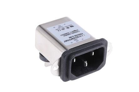 Schaffner - FN9226-3-06 - Schaffner 面板安装 IEC/EN 60939 IEC 滤波 插头 FN9226-3-06, Faston端接, 额定3A, 250 V 交流