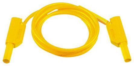 Multi Contact - 28.0124-100-24 - Multi Contact 28.0124-100-24 黄色 测试引线, 32A额定电流, 1 kV, 600 V, 公至公, 1m长