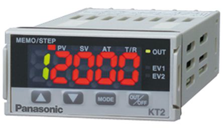 Panasonic - AKT2211200 - Panasonic KT2 系列 PID 温度控制器 AKT2211200, 48 x 24mm, 24 V 交流/直流, 1输出