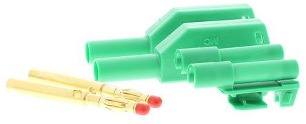 Multi Contact - 22.2380-25 22.1203 - Multi Contact 22.2380-25 22.1203 绿色 香蕉插头, 1kV 32A, 镀金触点