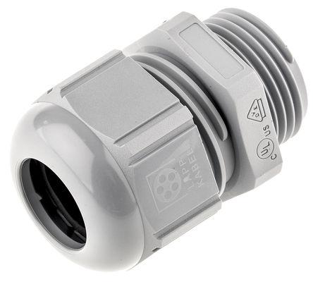 Lapp - 53111020 - Lapp SKINTOP? 系列 IP69K 灰色 聚酰胺 电缆固定头 53111020, 7mm 至 13mm电缆直径, -40°C至+100°C, M20螺纹