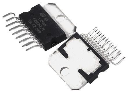 STMicroelectronics - L298N - STMicroelectronics 电机驱动器 IC L298N, 用于刷式直流, 4A, 4.8 → 46 V