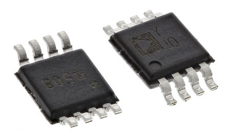 Analog Devices - SSM2305RMZ-R2 - Analog Devices SSM2305RMZ-R2 D 类 单声道 扬声器放大器, 55dB, +85 °C, 1.6 W @ 8 Ω, 2.8 W @ 4 Ω最大功率, 8引脚 MSOP封装