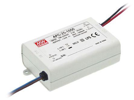 Mean Well - APC-25-350 - Mean Well LED ��悠� APC-25-350, 127 → 370 V 直流,90 → 264 V 交流�入, 25 → 70V�出, 350mA�出, 24.5W