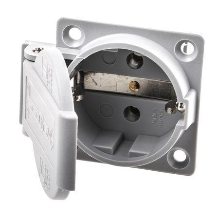 ABL Sursum - 1461060 - ABL Sursum 1461060 灰色 2P+E 欧洲 市电 插座, 额定250 V 16A