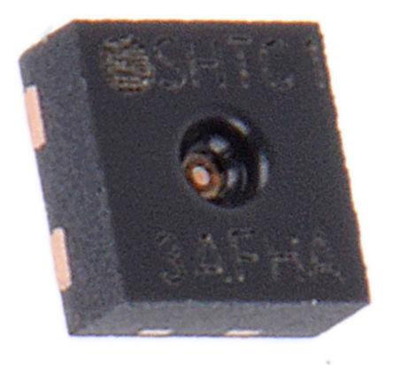 Sensirion - SHTC1 - Sensirion SHTC1 0.01(湿度)%RH,0.01(温度)°C 温度和湿度传感器, ±0.3 °C, ±3 %RH精确度, 串行 - I2C接口, 1.62 → 1.98 V电源