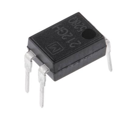 Panasonic - AQY212GH - Panasonic 1.1 A PCB安装 单极常开 固态继电器 AQY212GH, MOS 照片输出, 交流/直流切换, 60 V