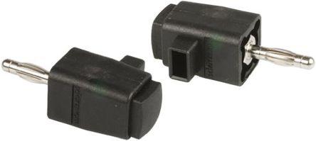 Schutzinger - DK799 BLK - Schutzinger DK799 BLK 黑色 香蕉插头, 30 V ac, 60 V dc 16A, 镀镍触点