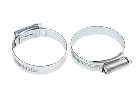 HI-GRIP - HGZ55BP - HI-GRIP 钢 管夹 HGZ55BP, 蜗杆传动, 40 → 55mm 内径, 带槽六角