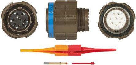 ITT - KJB6T13W8SN - ITT KJB 系列 8路 ��|安�b �B接器 螺�y 插�^ KJB6T13W8SN, 母�|芯, 外�こ叽�13, MIL-DTL-38999