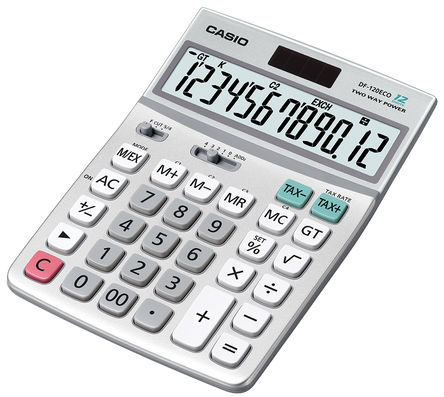Casio - DF-120ECO-W-EH - Casio 太阳能 桌面 计算器, 174.5 x 122 x 35.7mm