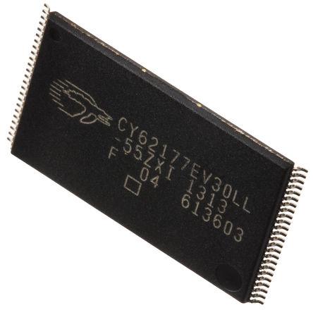 Cypress Semiconductor - CY62177EV30LL-55ZXI - Cypress Semiconductor CY62177EV30LL-55ZXI, 32Mbit SRAM �却�, 2.2 → 3.7 V, 48� TSOP封�b