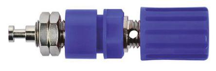 Schutzinger - POL 6718 / BL - Schutzinger POL 6718 / BL 蓝色 4mm 插座, 33 V ac, 70 V dc 36A, 镀镍触点