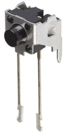 Panasonic - EVQPC405K - Panasonic 黑色 推入板 触觉开关 EVQPC405K, 单刀单掷 - 常开, 20 mA 4.75mm