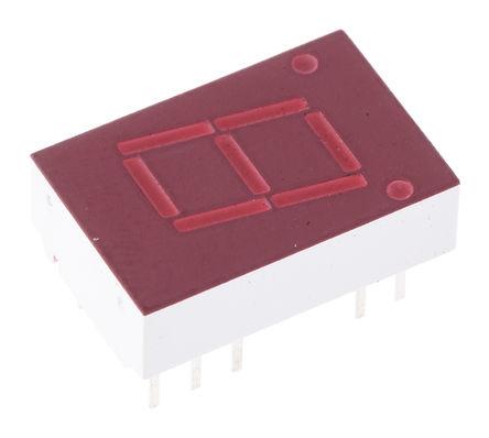 Broadcom - 5082-7651-DE000 - Broadcom 1字符 7段 共阳 红色 LED 数码管 5082-7651-DE000, 1.1 mcd, 右侧小数点, 10.92mm高字符, 通孔安装