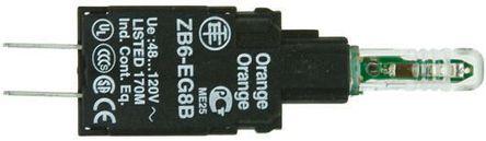 Schneider Electric - ZB6EG8B - Schneider Electric XB6 系列 照明块 ZB6EG8B, 48 → 120 V c.a., 橙色 LED, Faston 连接器接端